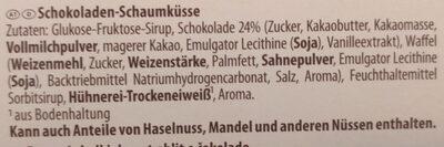 Riesen Schoko Küsse - Ingredients