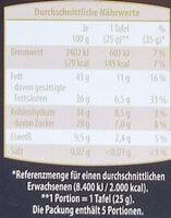 Edel Bitter 70 % - Nutrition facts - de