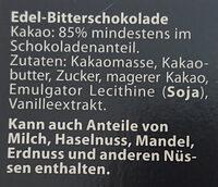 Edel Bitter 85% Cacao - Ingrédients - de