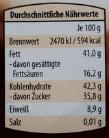 NussKnacker - Nutrition facts