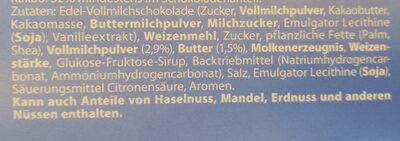 Choko und Keks - Ingrediënten - de