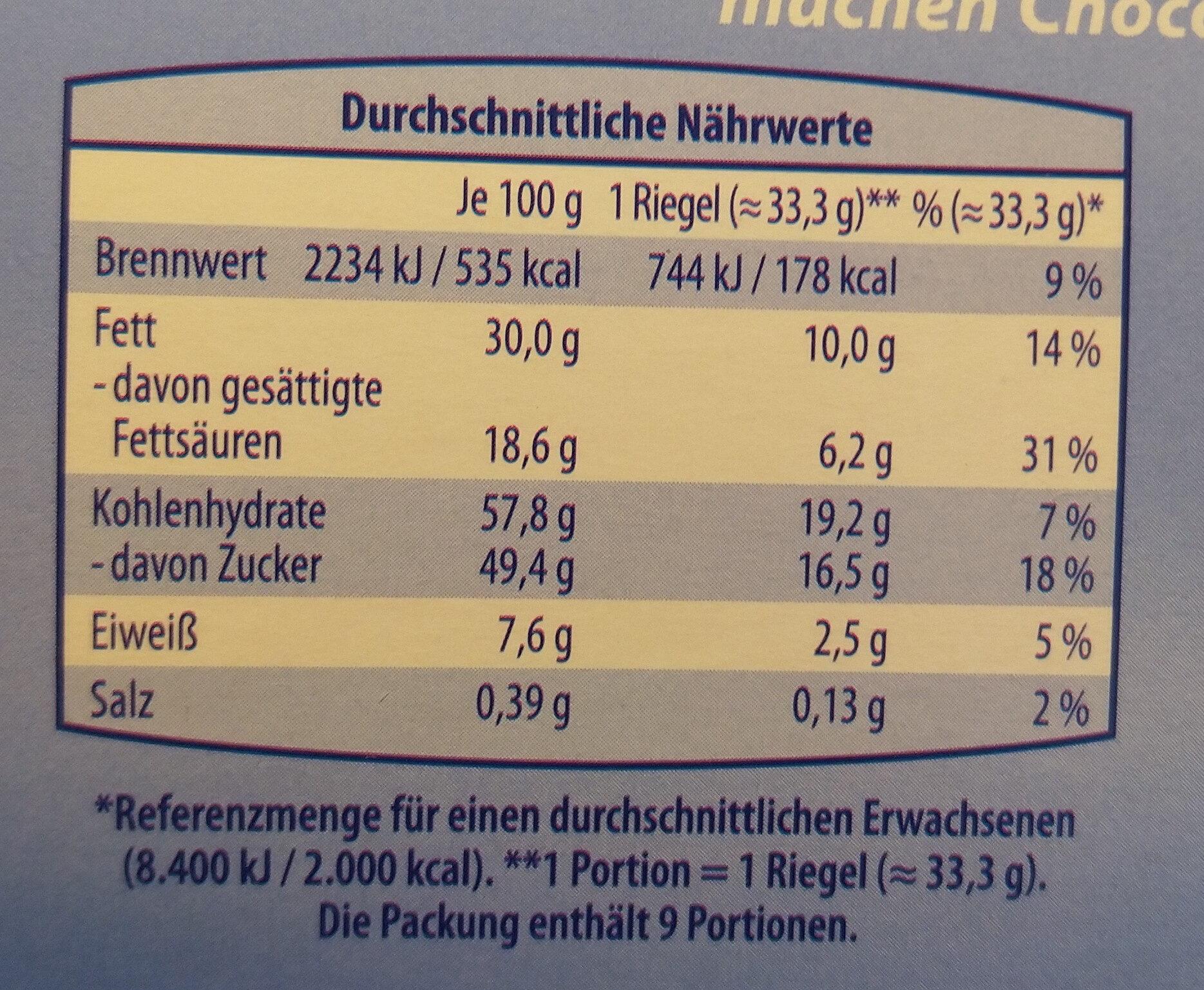 Choko und Keks - Voedingswaarden - de