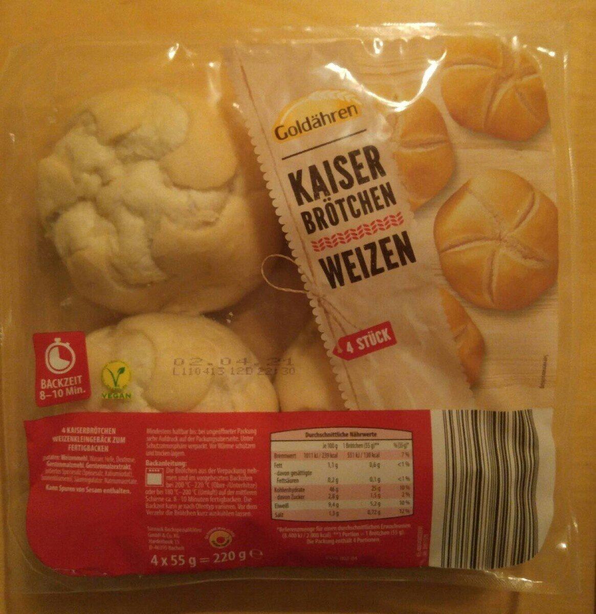 Kaiser Brötchen Weizen - Product - de