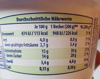 Buttermilch-Dessert zitrone - Voedingswaarden - de