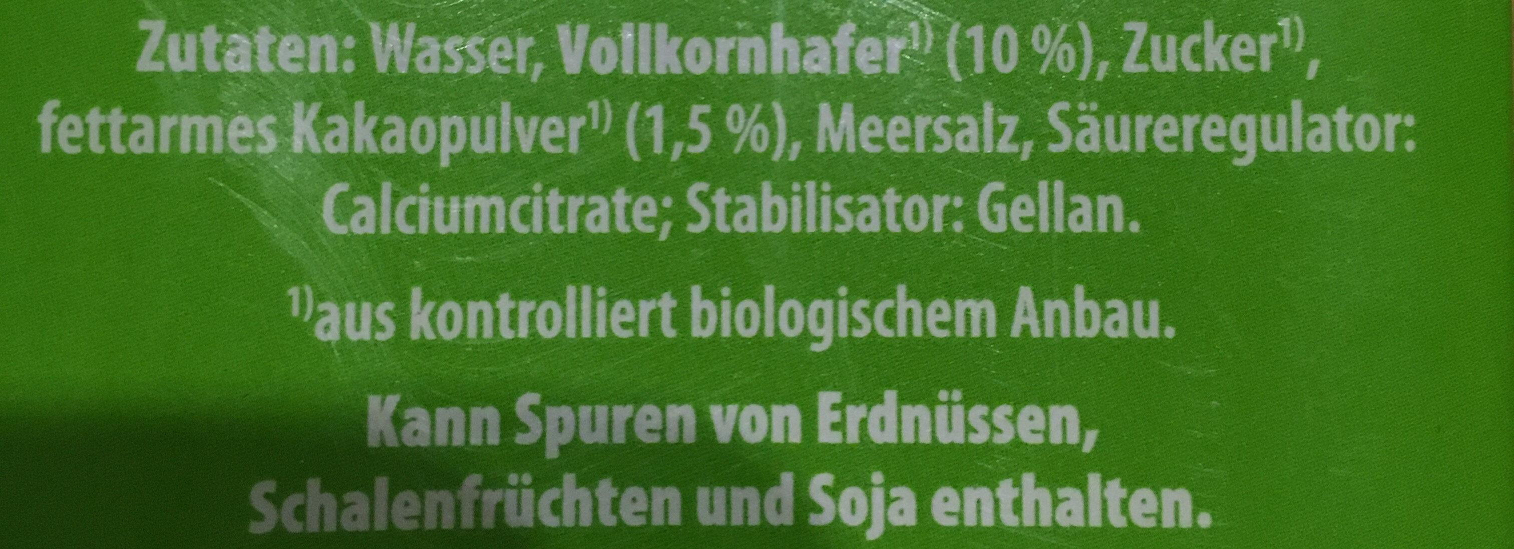 Hafer Drink Schoko - Ingrédients - de