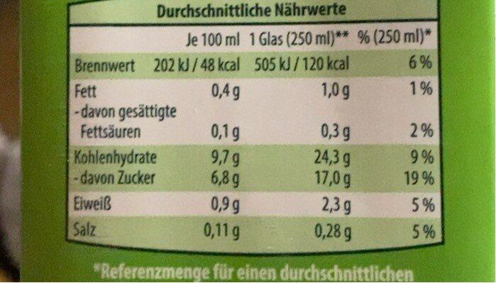 Hafer Drink Schoko - Informations nutritionnelles - de