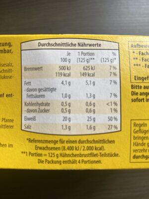 Jacks Farm Hähnchenbrustfilet Teilstücke - Nährwertangaben - de