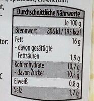 Weisskraut Salat - Nährwertangaben - de