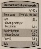Hummus Natur - Nutrition facts - de