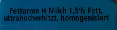 Fettarme H-Milch - Zutaten - de