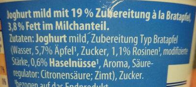Alpighurt à la Bratapfel - Ingredients - de