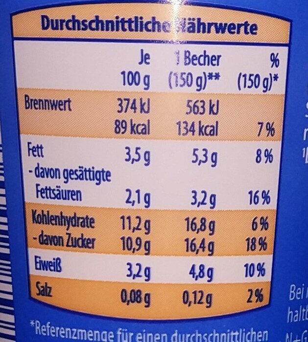 Alpighurt à la Bratapfel - Nutrition facts - de