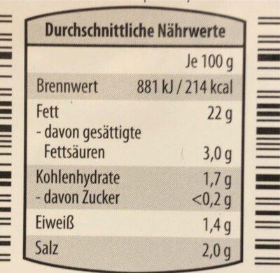 Marinierte Oliven rosm. - Informations nutritionnelles - en