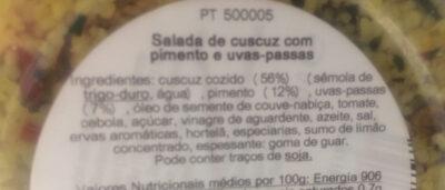 Couscous Salat - Ingredientes - pt