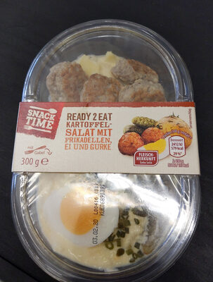 Kartoffelsalat mit Frikadellen, Ei und Gurke - Produkt - de