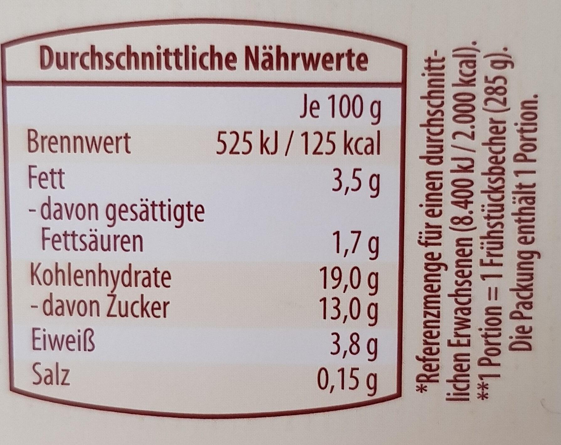 Dessert mi Joghurt Kirschen und Double Chocolatr Crunch Müsli - Nutrition facts