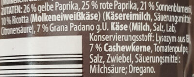 Pesto alla Calabrese - Zutaten - de