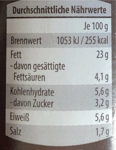 Pesto alla Calabrese - Nährwertangaben - de