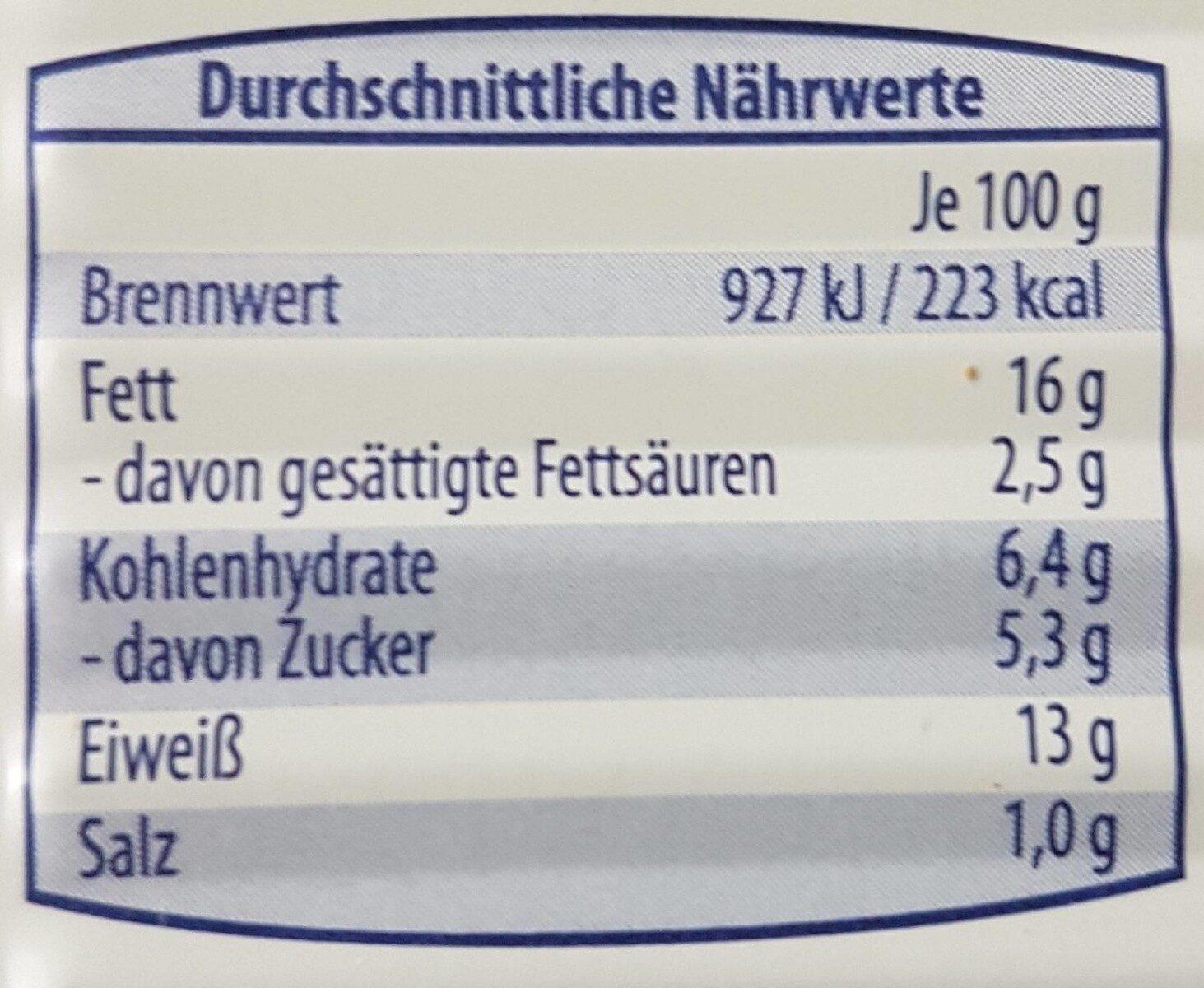 Heringsfilets - Informations nutritionnelles - de