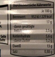 Heringsfilet - Valori nutrizionali - de