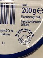 Heringsfilet - Istruzioni per il riciclaggio e/o informazioni sull'imballaggio - de