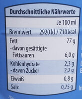 Delikatess mayonnaise - Informations nutritionnelles