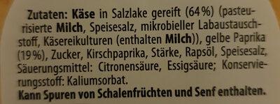 Hirtenkäse Aufstrich - Zutaten - de