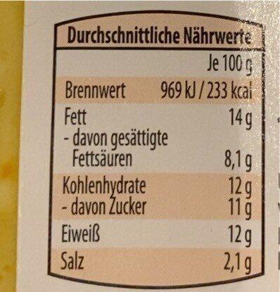 Hirtenkäse Aufstrich - Nährwertangaben - de