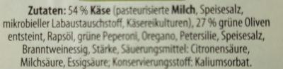 Hirten Käse - Ingrediënten - de