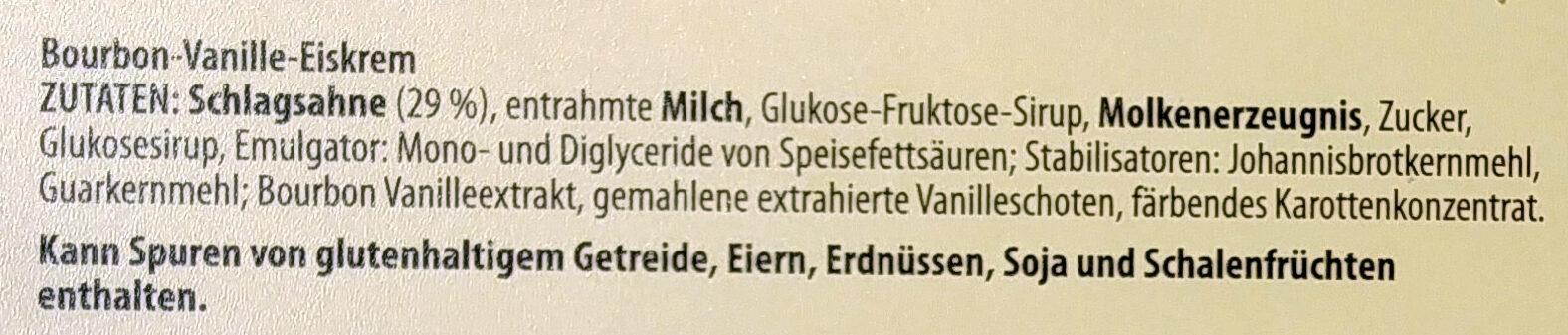 Bourbon vanilleeiskrem - Zutaten - de