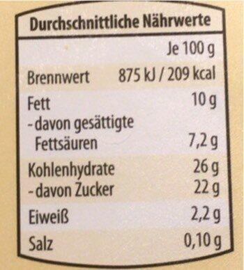 Bourbon vanilleeiskrem - Nährwertangaben - de