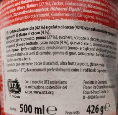 Nut loves Choco - Valori nutrizionali - en