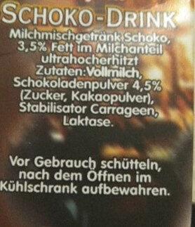 Schoko-Drink - Ingrédients - de