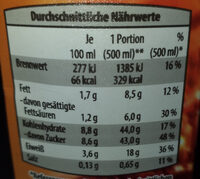 Schoko-drink - Nutrition facts - nl