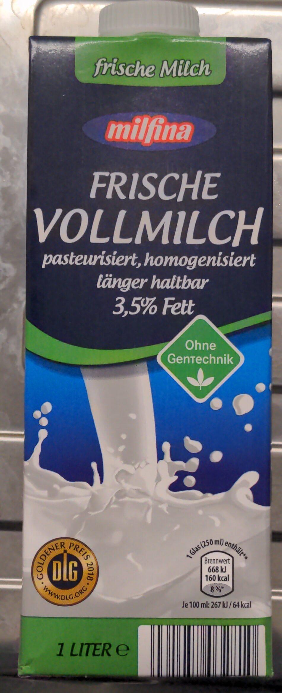 Frische Vollmilch 3,5% Fett - Produkt - de