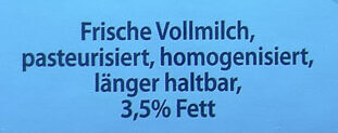 Frische Vollmilch - Ingredients - de