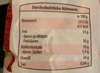 Geröstete Jumbo Erdnüsse - Voedingswaarden - fr