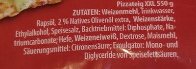 Pizzateig - Ingrédients