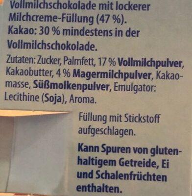 Löffelei Milchcreme - Ingredienti - de