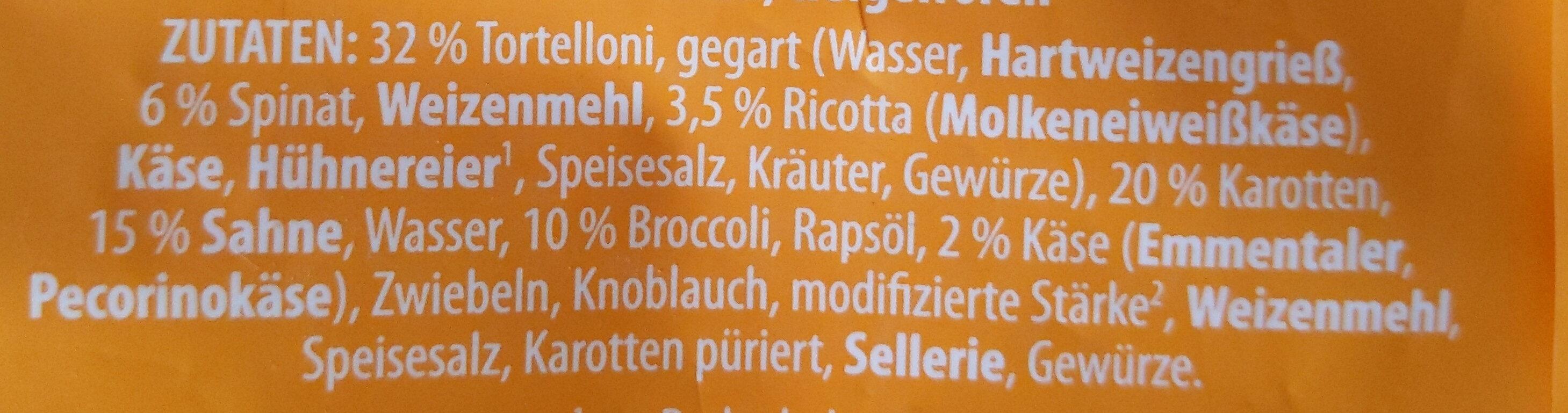 Tortelloni Käse-Sahne - Ingrédients - de