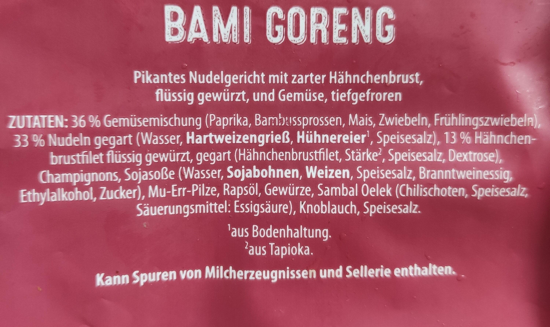 Bami Goreng - Ingredients - de