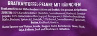 Bratkartoffel-Pfanne mit Hähnchen - Ingrédients - de