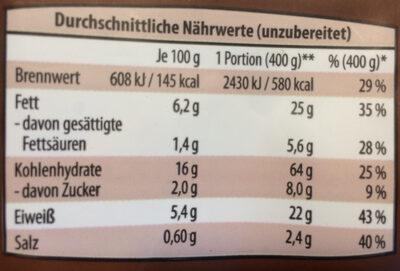 Primana Nudel-Frikadellen-Pfanne - Informations nutritionnelles - de