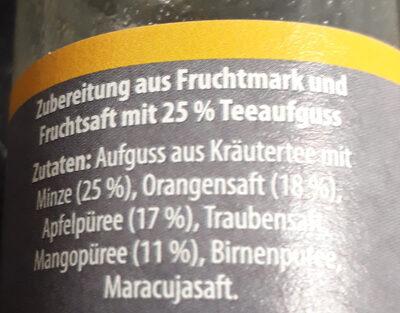 Smoothie + thé menthe - Ingredients - de