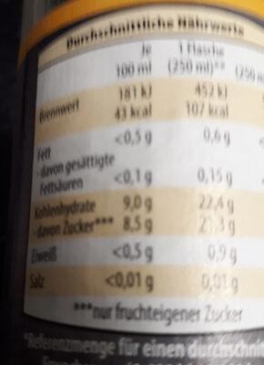 Smoothie + thé menthe - Nutrition facts - de