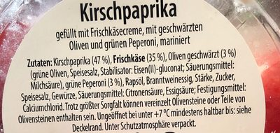 KIRSCHPAPRIKA - Ingredients