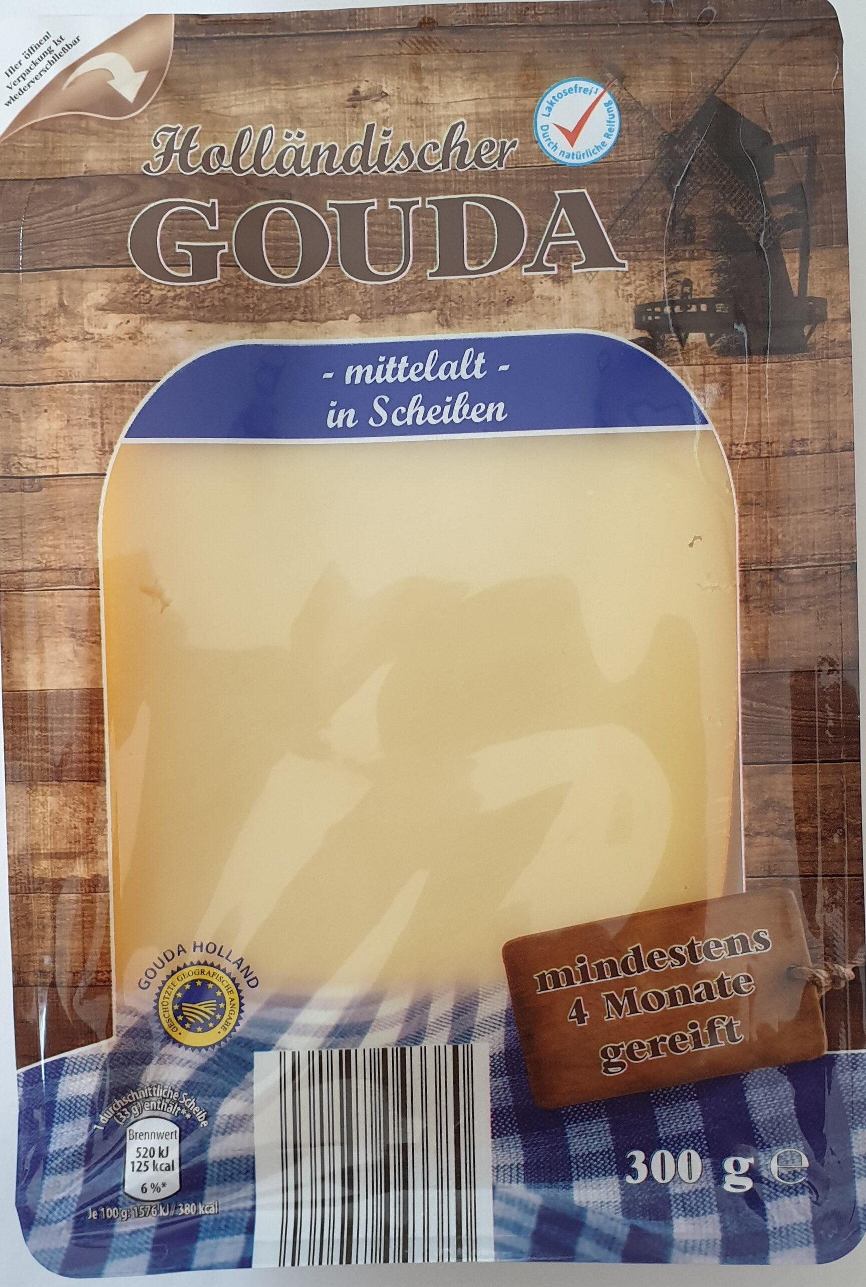 Holländischer Gouda, mittelalt, in Scheiben - Product - de