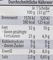 Holländischer Gouda, mittelalt, in Scheiben - Voedingswaarden - de