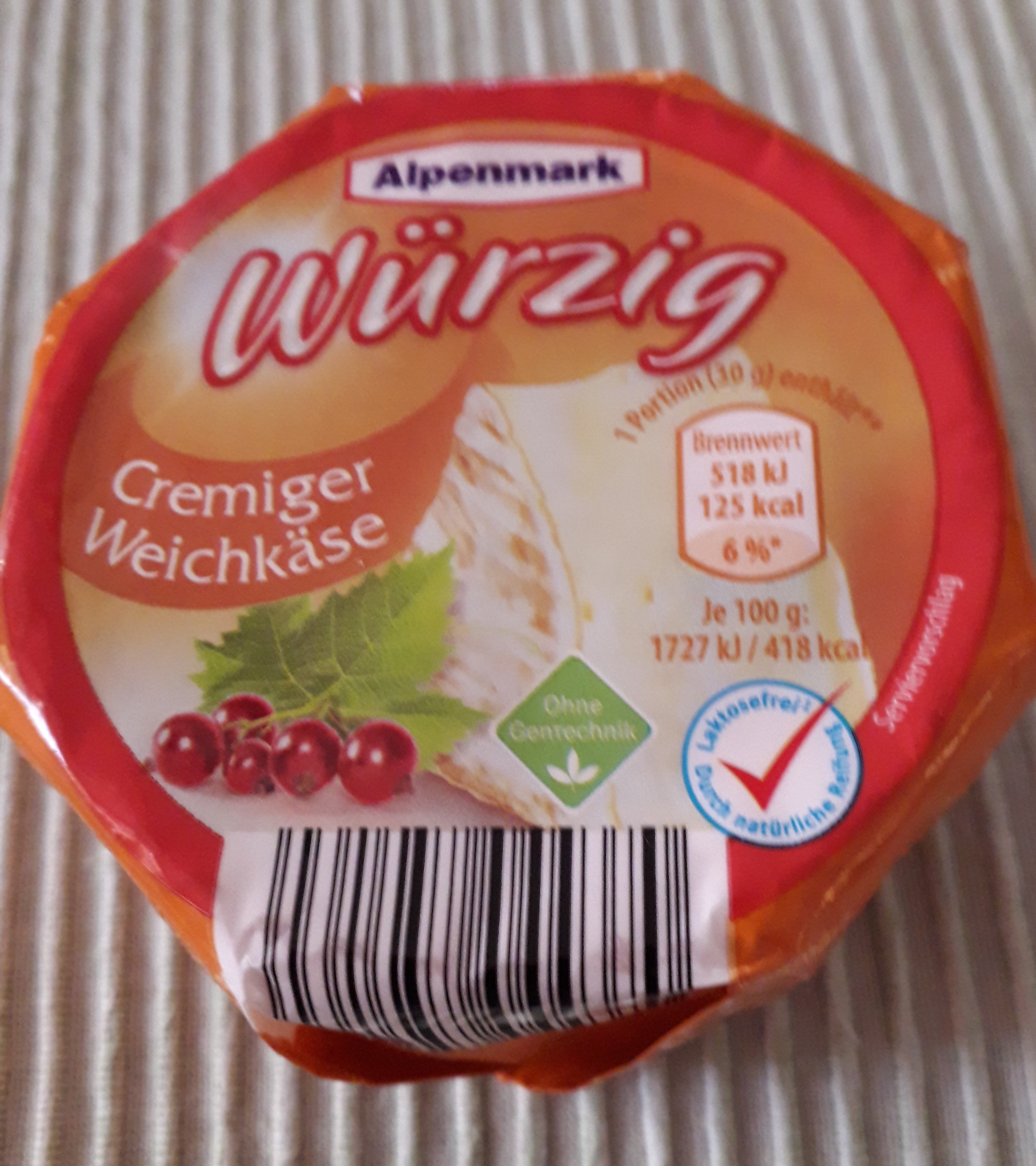 Cremiger Weichkäse würzig - Product - de