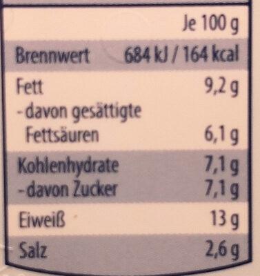Leicht Schmelzkäse - Voedingswaarden